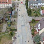przebudowa ulic Dąbie postęp prac kwiecień 2020