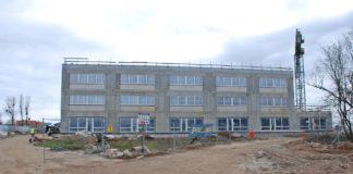 szkoła Warszewo postęp prac kwiecień 2020