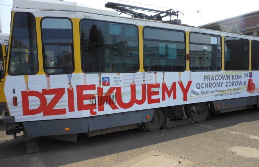 tramwaj Szczecin podziękowania dla medyków
