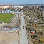 ul. Twardowskiego przebudowa stan prac kwiecień 2020