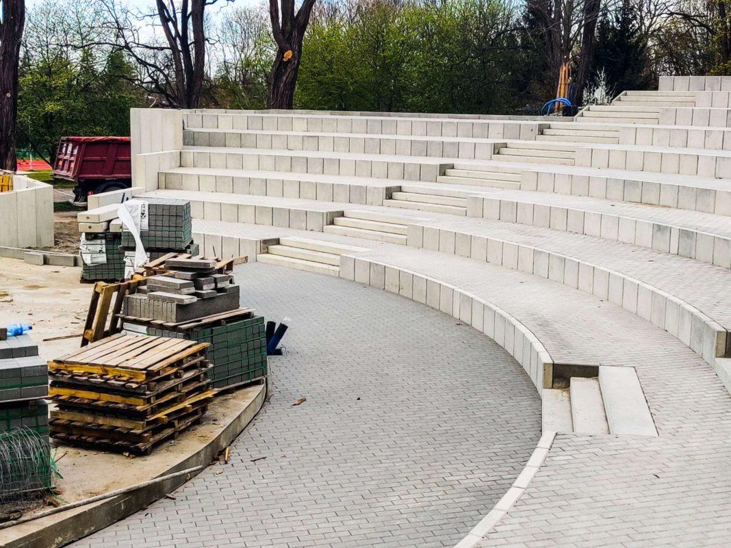 amfiteatr Żydowce postęp prac kwiecień 2020