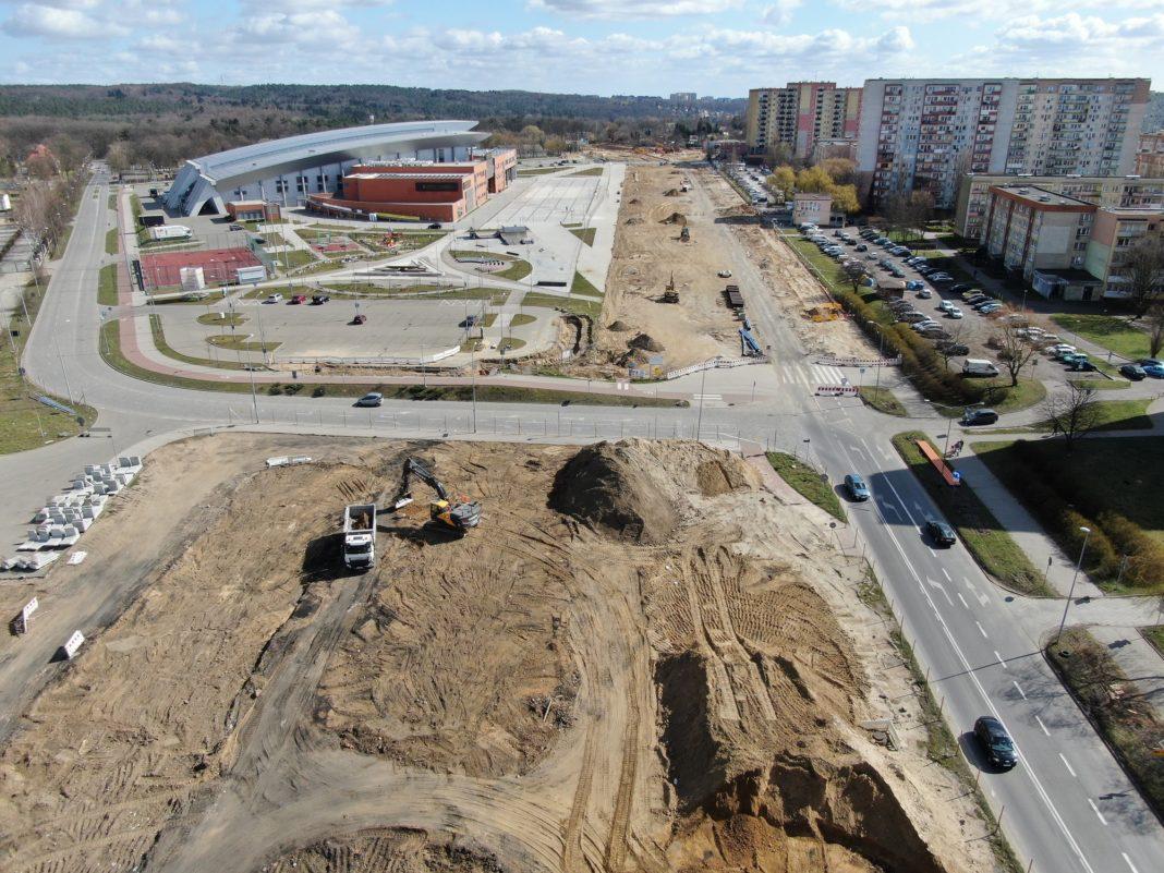 ul. Szafera przebudowa stan prac kwiecień 2020