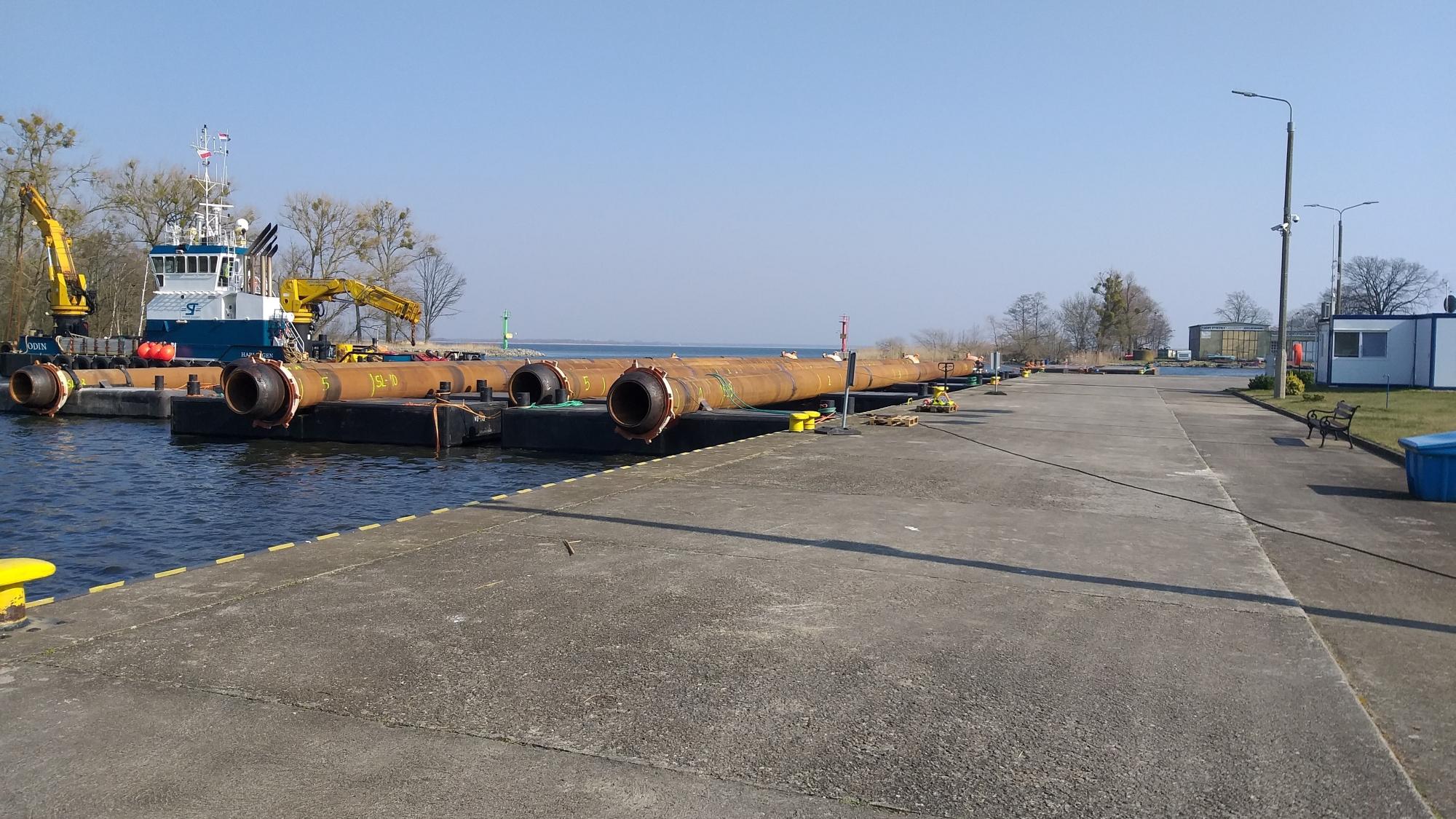 tor wodny Świnoujście Szczecin pogłębienie rozpoczęcie prac
