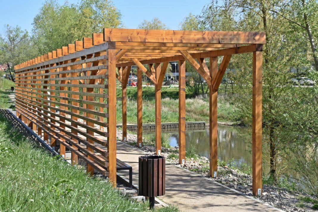 park Warszewo-Podbórz budowa drugi etap postęp prac maj 2020