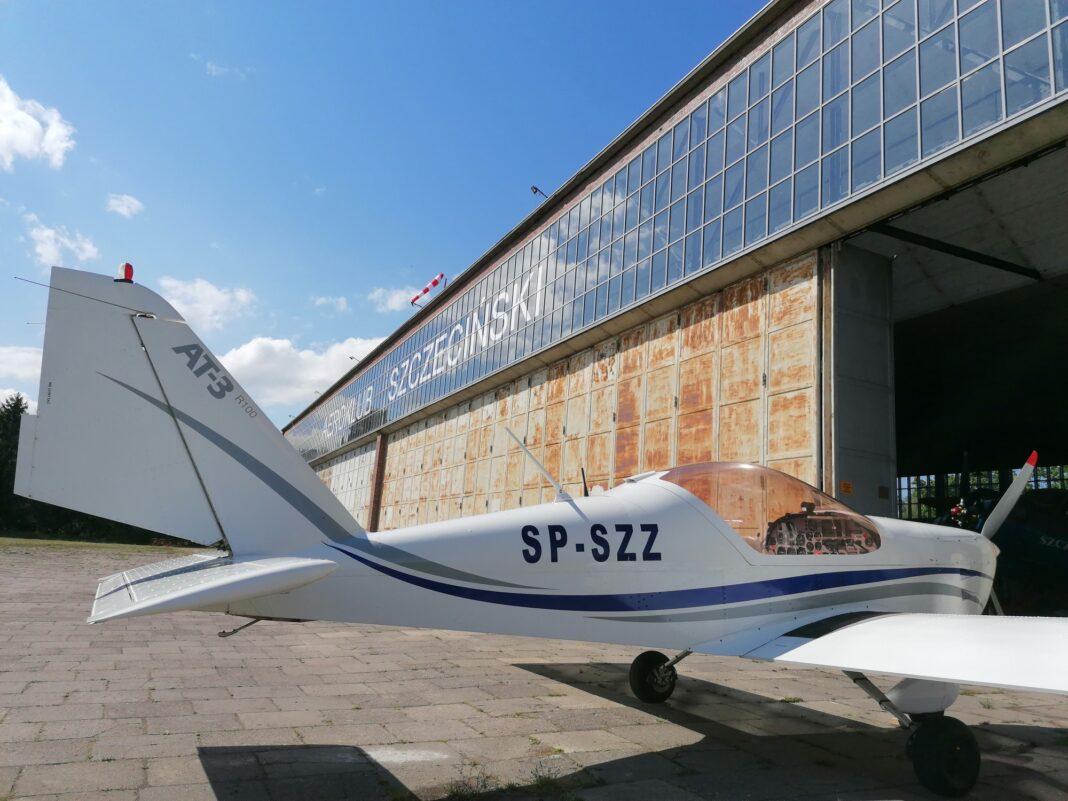 hangar Aeroklub Szczeciński remont