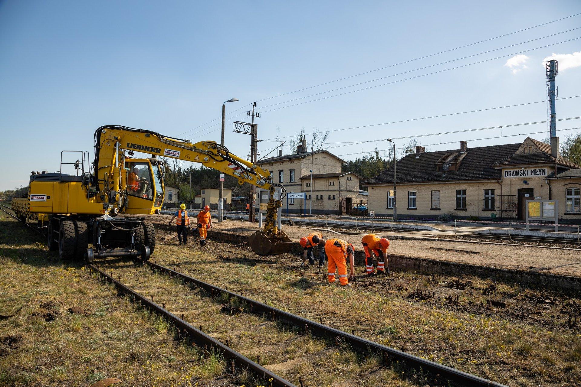 trasa kolejowa Szczecin - Poznań stan prac maj 2020