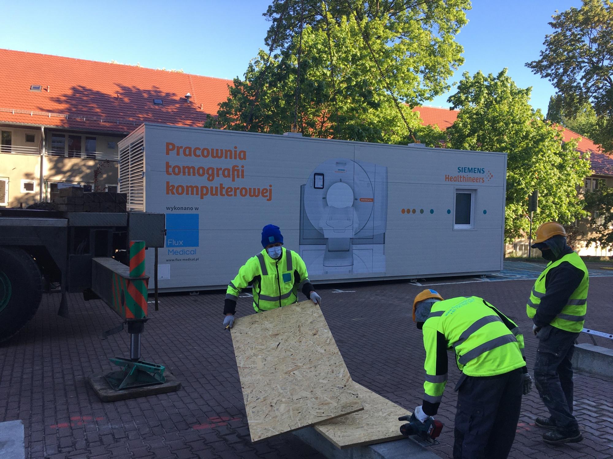 kontenerowy tomograf komputerowy szpital wojewódzki Szczecin