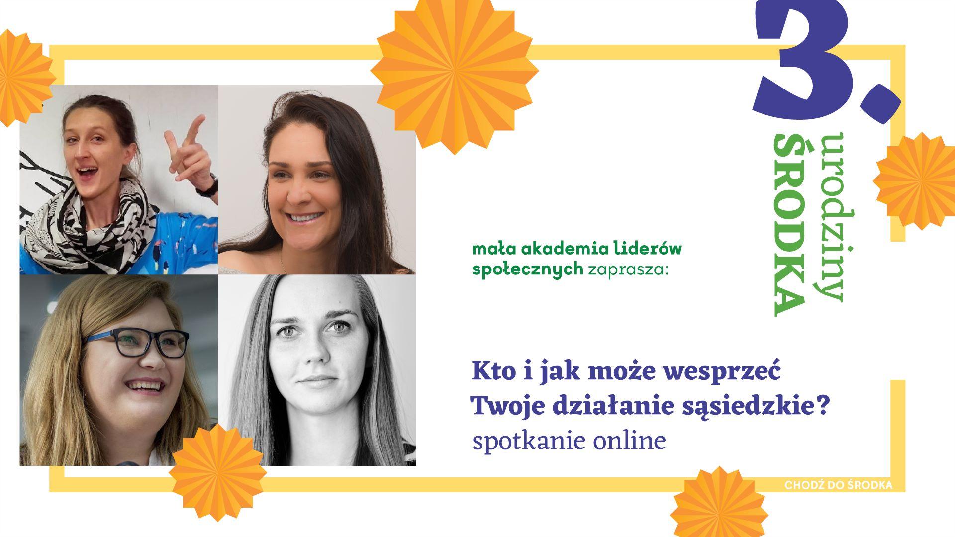 3. urodziny ŚRODKA- Kto i jak może wesprzeć działania sąsiedzkie?- spotkanie online