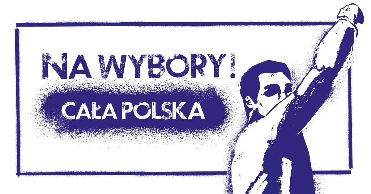 """kampania """"Cała Polska. Nawybory!"""" Szczecin"""