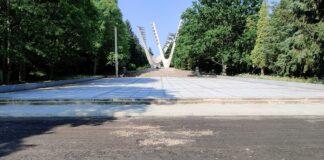 Cmentarz Centralny alejki remont 2020 rok