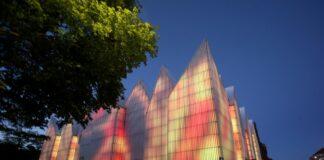 iluminacja muzyka pokaz Filharmonia Szczecin czerwiec 2020