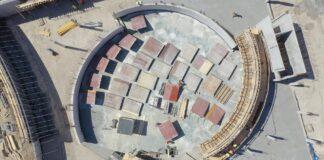 aquapark Fabryka Wody stan prac czerwiec 2020 film