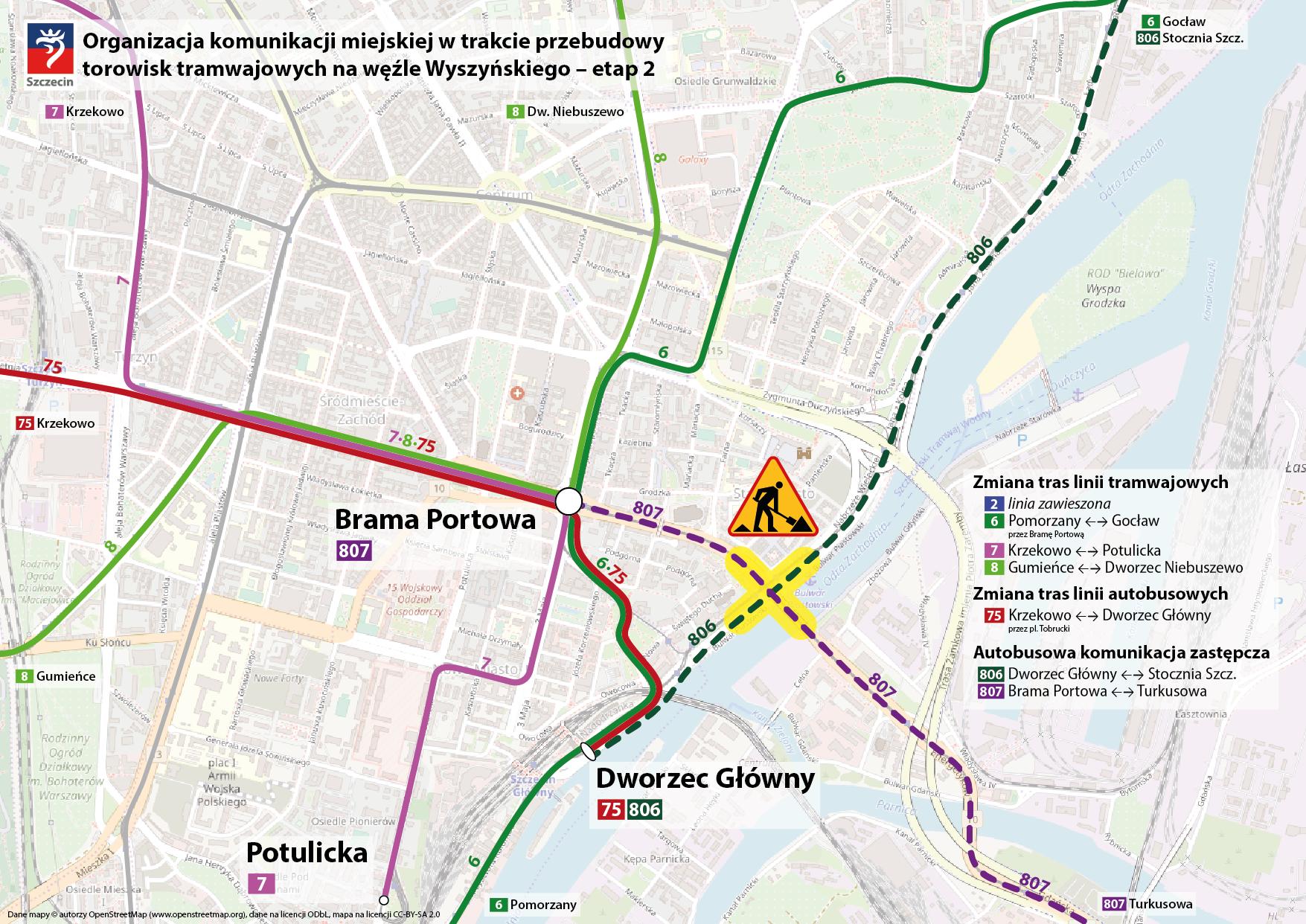 ulica Wyszyńskiego organizacja ruchu zmiany czerwiec 2020