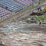 Stadion Miejski murawa przenoszenie