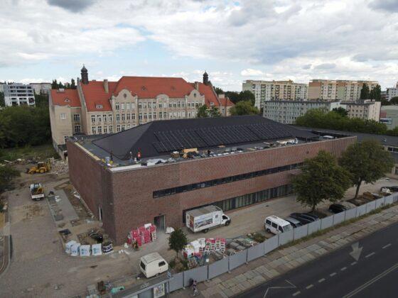 hala sportowa TME Szczecin postęp prac lipiec 2020