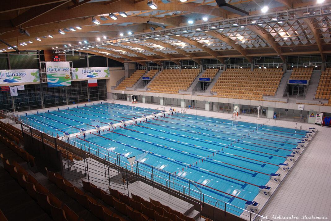 Floating Arena basen 25-metrowy Szczecin lipiec 2020