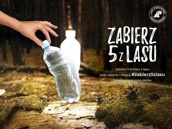 śmieci lasy akcja zabierz 5 z lasu