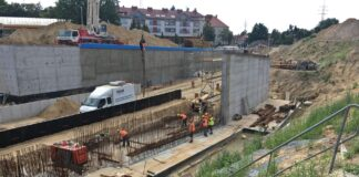 węzeł Łękno postęp prac sierpień 2020