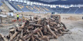 budowa Stadion Miejski pociski granaty niebezpieczne materiały