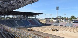 Stadion Miejski postęp prac sierpień 2020