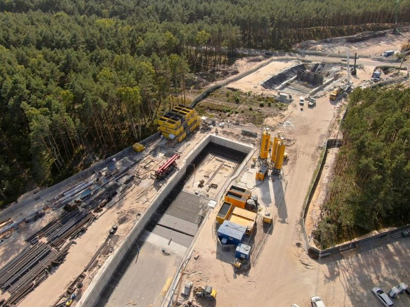 tunel Świnoujście postęp prac sierpień 2020