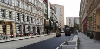 przebudowa ulice śródmieście postęp prac sierpień 2020