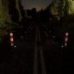 znaczniki fotoluminescencyjne linie krawędziowe trasy rowerowe Pomorze Zachodniezzz