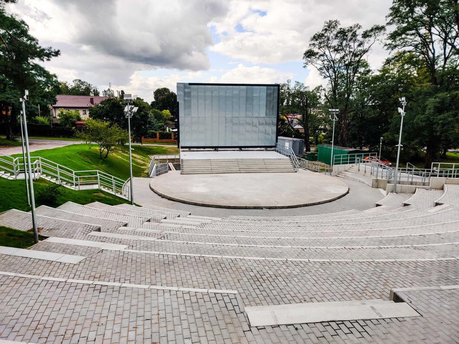 amfiteatr Żydowce postęp prac wrzesień 2020