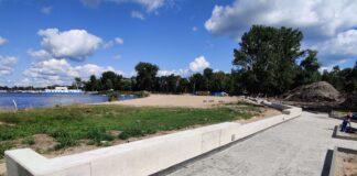 kąpielisko Dąbie przebudowa postęp prac wrzesień 2020