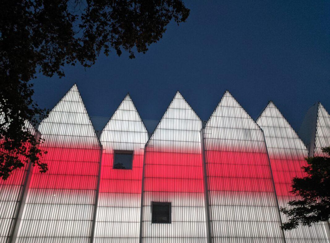 Filharmonia Szczecin podświetlenie #lightforbelarus