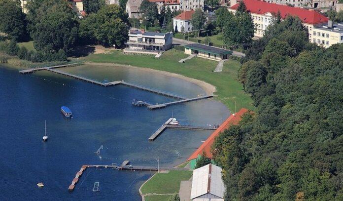 pomosty pływające jezioro Klukom Choszczno