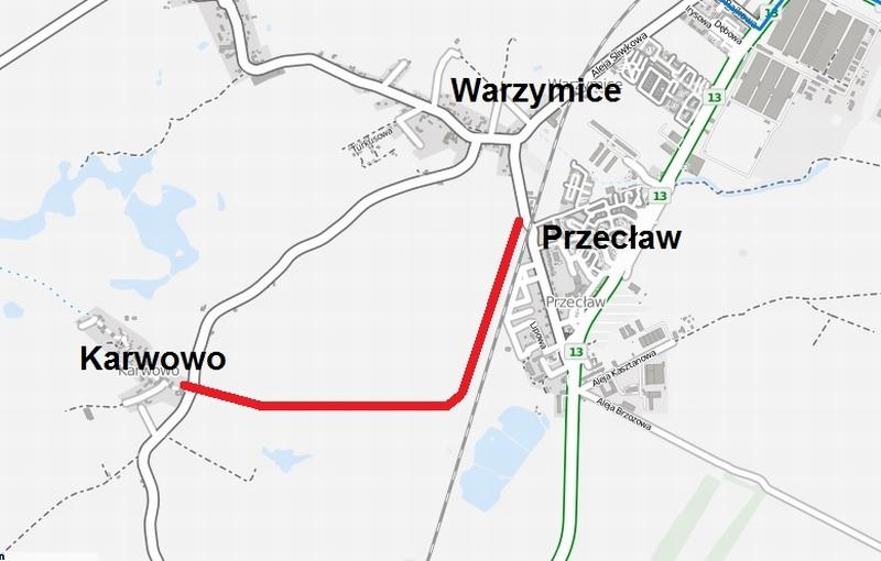 droga rowerowa Przecław Karwowo