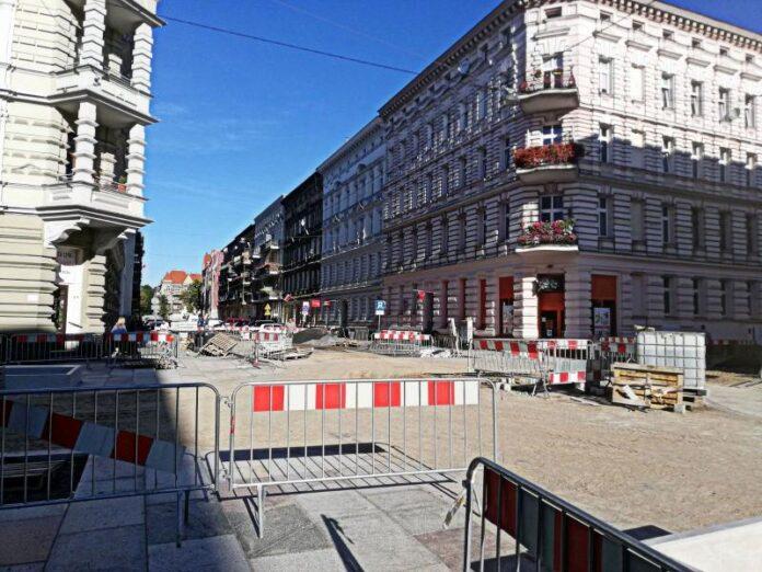 ulice śródmieście przebudowa stan prac wrzesień 2020