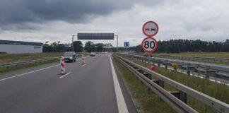 autostrada A6 utrudnienia jedna jezdnia wrzesień 2020