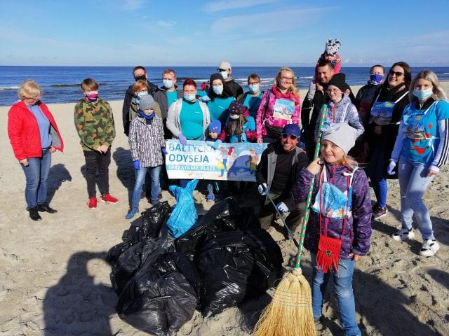 bałtycka odyseja 2020 sprzątanie śmieci plaże
