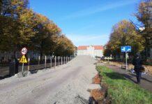 remont alei Jana Pawła II Szczecin październik 2020