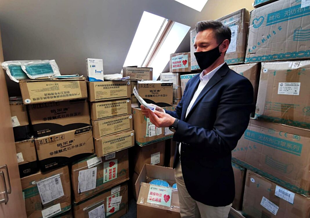 Pomorze Zachodnie sprzęt medyczny prowincja Guandong darowizna październik 2020