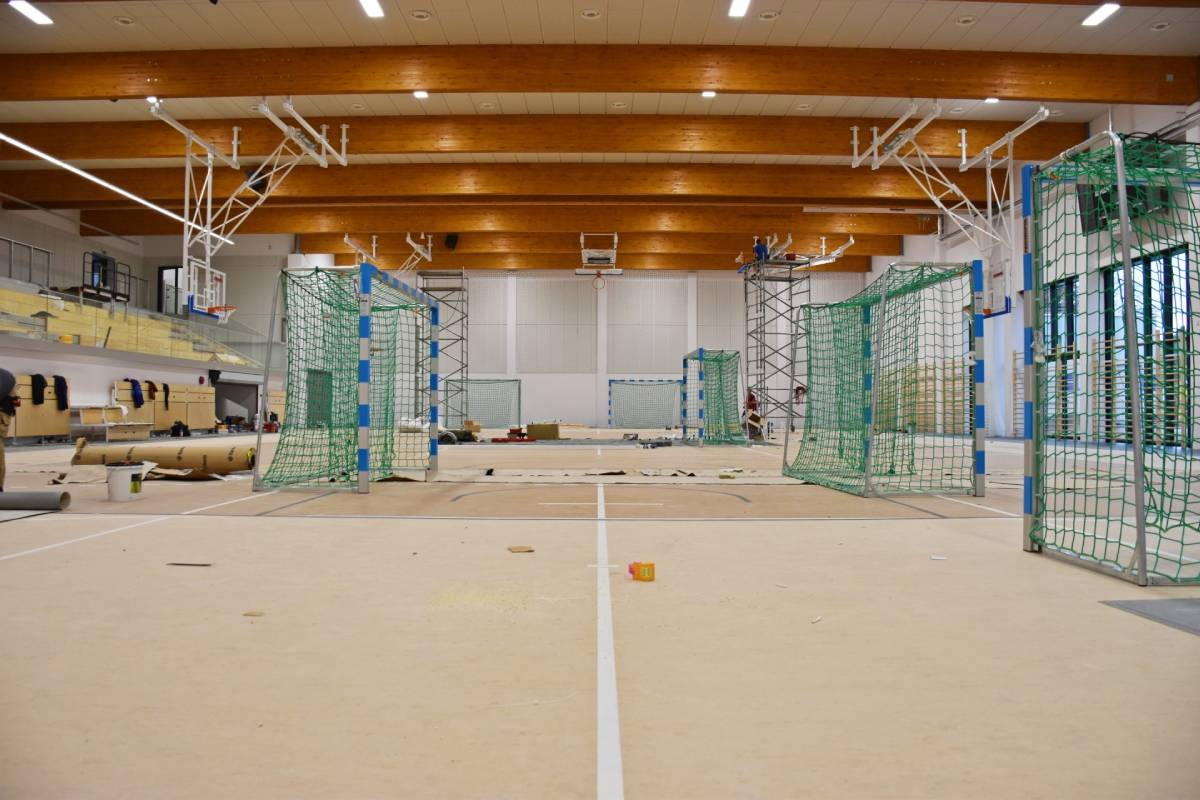 Nowoczesna sala gimnastyczna TME wSzczecinie prawie gotowa 2020