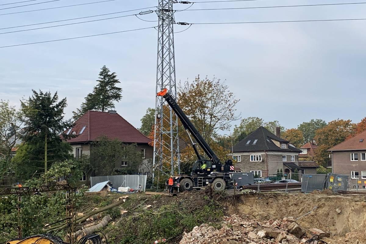 Węzeł Łękno postęp prac październik 2020