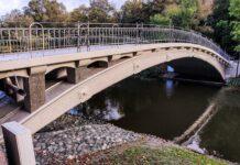 mostek nad Rusałką gotowy październik 2020
