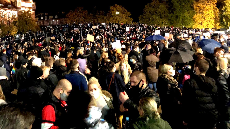 Szczecin, protest kobiet, październik 2020