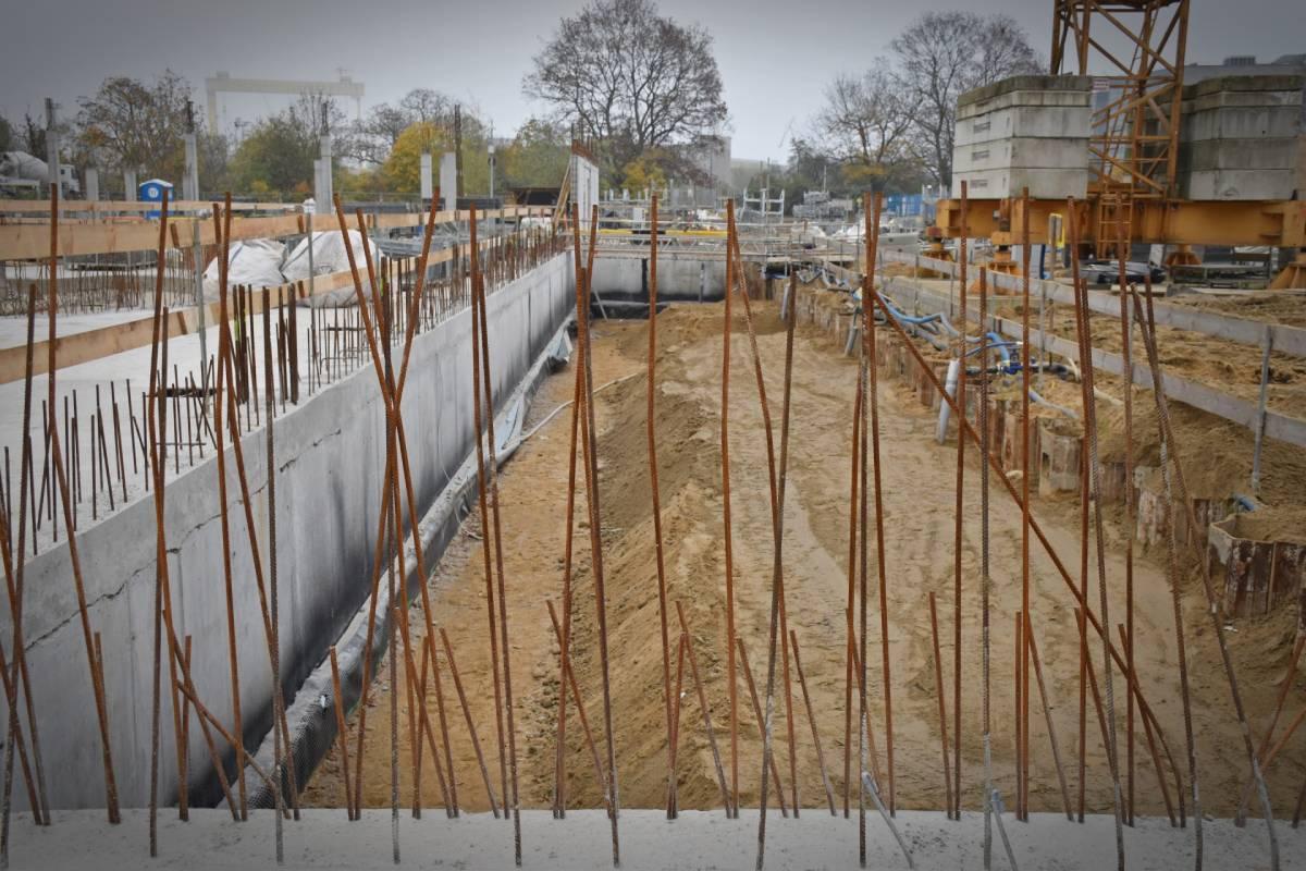 Fabryka Wody plac budowy Szczecin listopad 2020