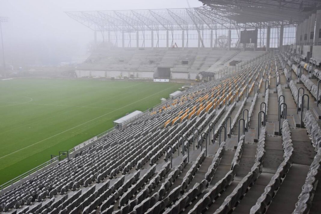 nowe wieści z placu budowy Stadionu Miejskiego Szczecin listopad 2020