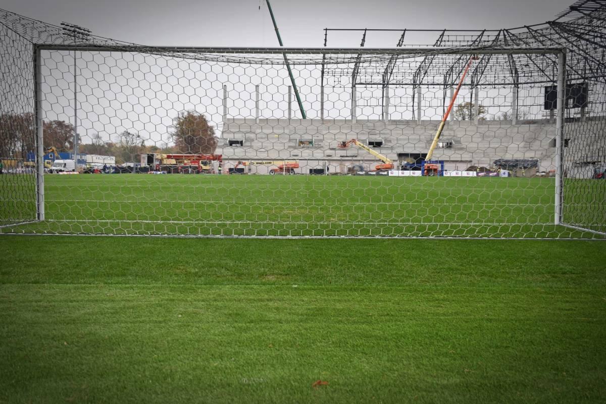 postęp prac Stadion Miejski Szczecin listopad 2020