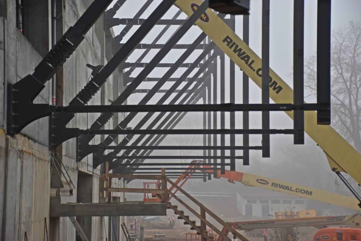 nowe wieści zplacu budowy Stadionu Miejskiego Szczecin listopad 2020