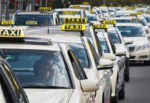 prostest szczecińskich taksówkarzy