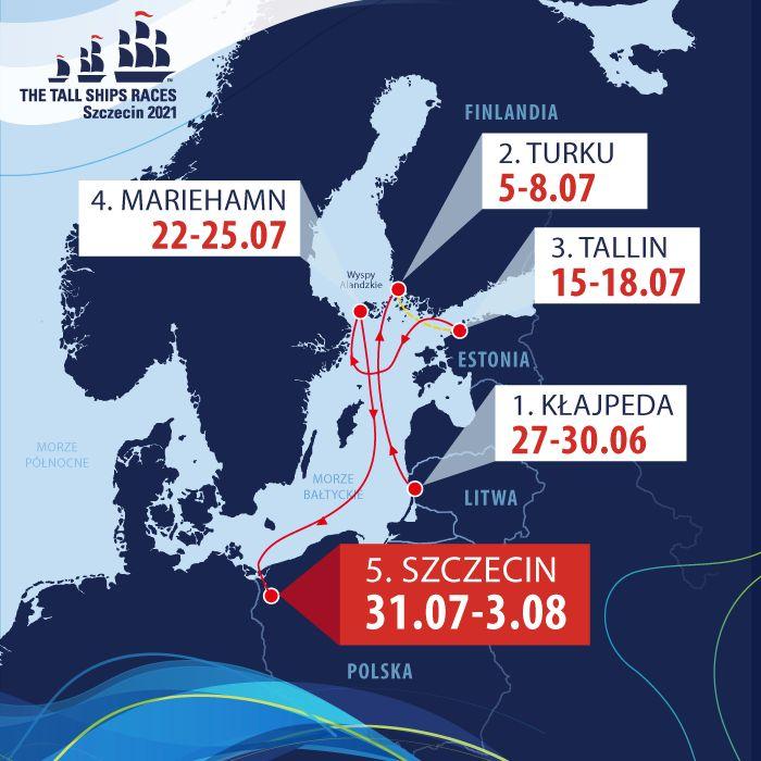 przygotowania dofinału Tall Ships Races 2021 wSzczecinie