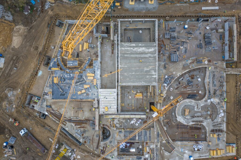intensywne prace nabudowie Fabryki Wody wSzczecinie grudzień 2020
