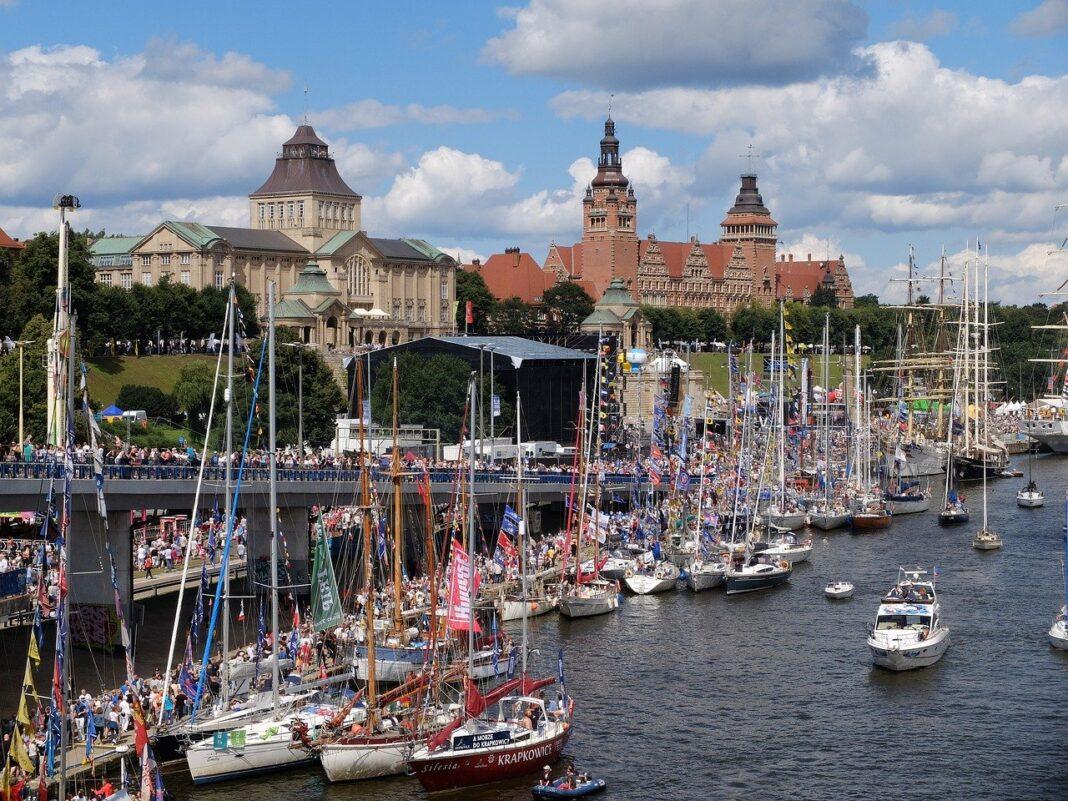 przygotowania do finału Tall Ships Races 2021 w Szczecinie