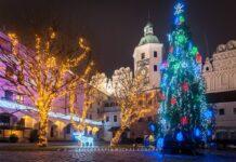 Zamek Książąt Pomorskich w świątecznej oprawie